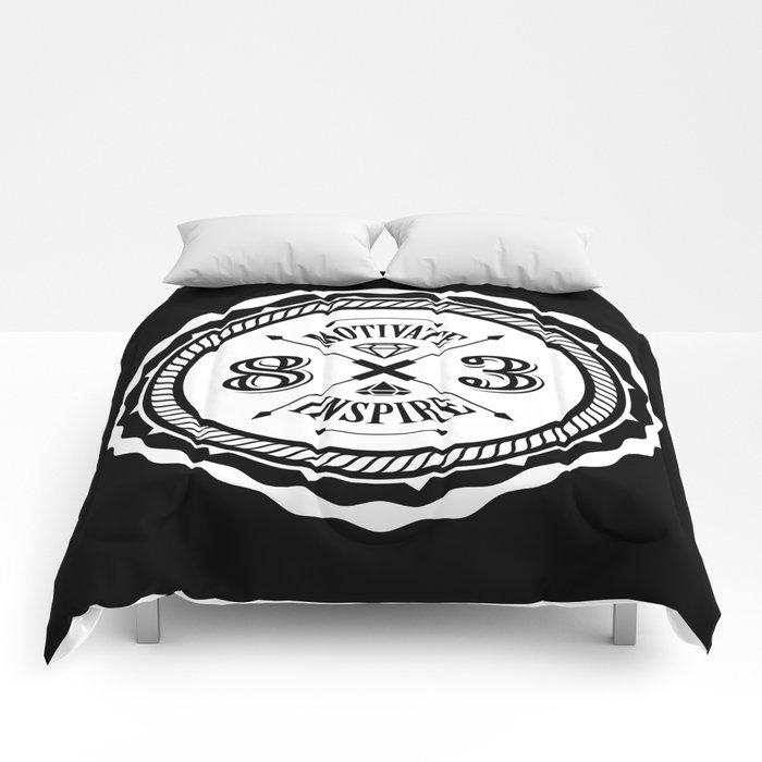 Motivate & Inspire (White) Comforters