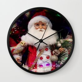 Disco Santa Wall Clock