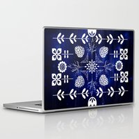 batik Laptop & iPad Skins featuring Flora Batik by GypsyBohemian