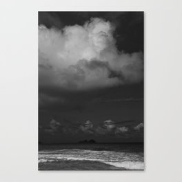 Dark Island Day Canvas Print