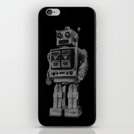 Vintage robot iPhone Skin