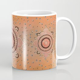 Mandala ornament orange Coffee Mug