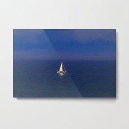 Mediterranean Yacht Art Metal Print