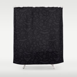 Dark Halloween Pattern Shower Curtain