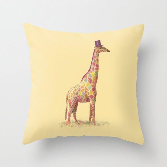Fashionable Giraffe Throw Pillow