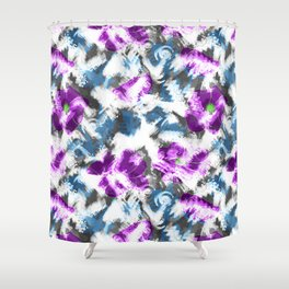 """Watercolor glamour "". Lilac - blue. Shower Curtain"