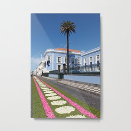 Palace in Azores Metal Print