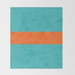 aqua and orange classic Throw Blanket