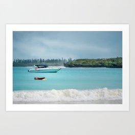 Overcast morning at Kuto Bay on Isle of Pines in New Caledonia. Art Print