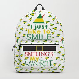 I just like to Smile - Buddy the Elf Backpack