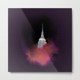 Blended City Metal Print