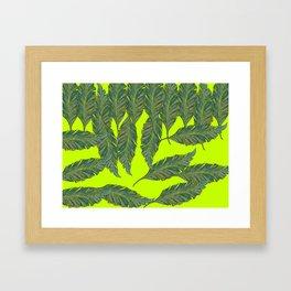 Australica Exotic Leaf Framed Art Print