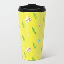sunny beach pattern Travel Mug
