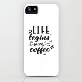 Coffee lettering iPhone Case