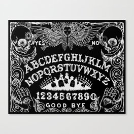 Ouija Board Black Canvas Print