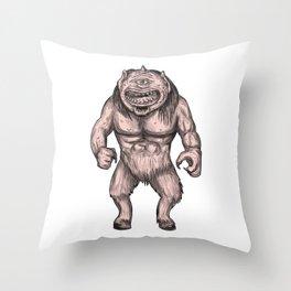 Cyclops Standing Tattoo Throw Pillow