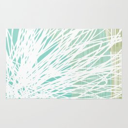 Doodle Flowers in Mint by Friztin Rug