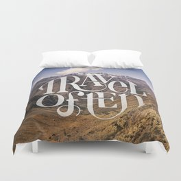 Travel to the Mountains Duvet Cover