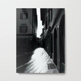 Sunshine Walking Streets Metal Print