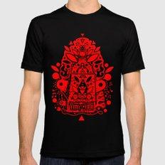 kozmik machine (red) Black MEDIUM Mens Fitted Tee