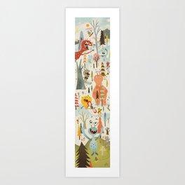 No Slopes Like Snow Slopes Art Print