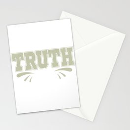 """""""Truth Lie"""" tee design. Makes a unique and fabulous gift to your family and friends this holiday!  Stationery Cards"""
