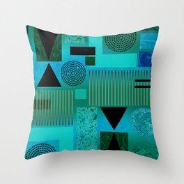 GEO-1 | aqua blue Throw Pillow