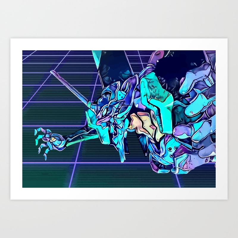 Retro Evangelion 01 Art Print By Hustlart Society6