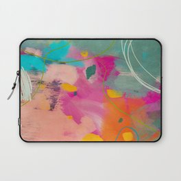 mixed abstract brush color study art 1 Laptop Sleeve