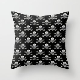 Skull - Iron Pattern Throw Pillow