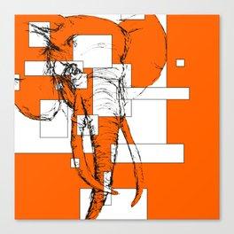 Orange is the New Elephant Canvas Print
