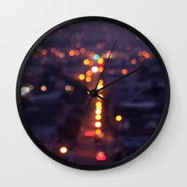 Fog. Wall Clock