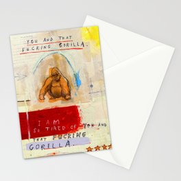 Gratuitous Simian Profanity. Stationery Cards