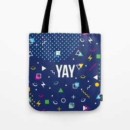 YAY Crazy + Colourful Tote Bag