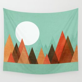 From the edge of the mountains Wall Tapestry