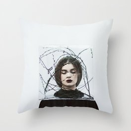 Life in a box Throw Pillow