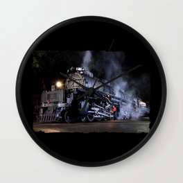 Oiling the Running Gear.  UP 4014. Union Pacific. Steam Train Locomotive. Big Boy. © J. Montague. Wall Clock