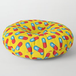 Deadly but Colorful. Pills Pattern Floor Pillow