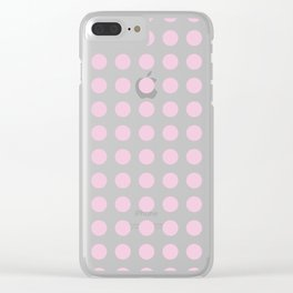 Simply Polka Dots in Blush Pink Clear iPhone Case