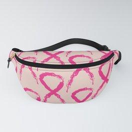 Grunge pink ribbon Fanny Pack