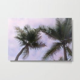 Pink Palm Metal Print