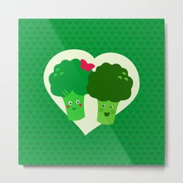 Broccoli in love Metal Print