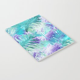 Turquoise floral print Notebook