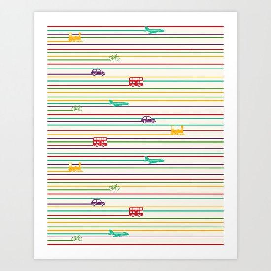 Keep Rolling Art Print