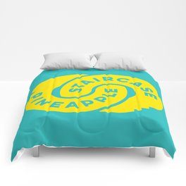 PineappleStaircase   Official Logocolor 2015 in Turquoise/Yellow Comforters
