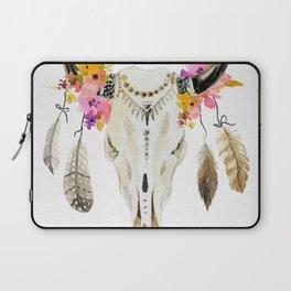 free spirit- tribal skull Laptop Sleeve