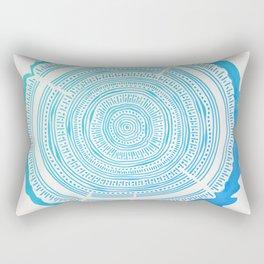 Douglas Fir – Blue Ombré Rectangular Pillow