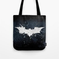 bat man Tote Bags featuring BAT MAN by Thorin