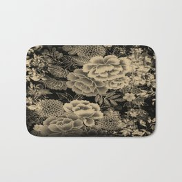 Vintage Floral Abstract Bath Mat