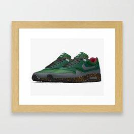 Collard-green Framed Art Print